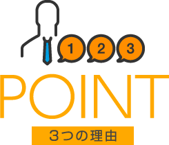 point 3つの理由